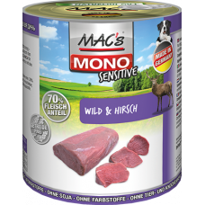 MAC's Dog Mono Sensitive Wild & Hirsch 6 x 800g